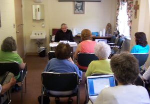 A formation class with our Spiritual Director Father Joseph Henchey, CSS